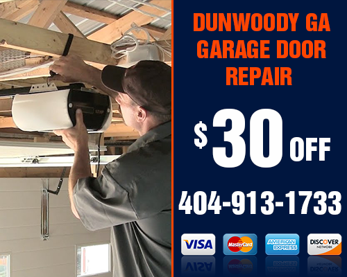 Dunwoody GA Garage Door repair Coupon
