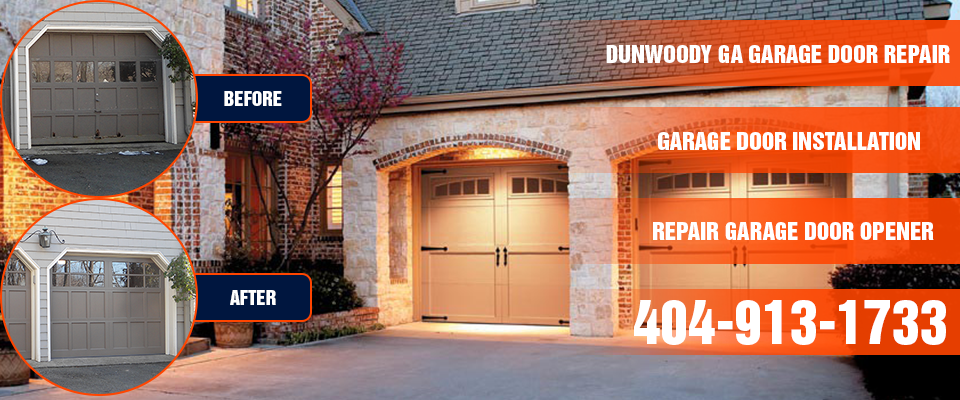 Dunwoody GA Garage Door repair banner